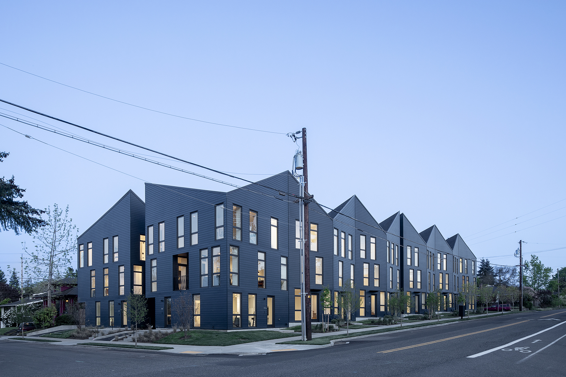 Origami PDX at dusk - Waechter Architecture